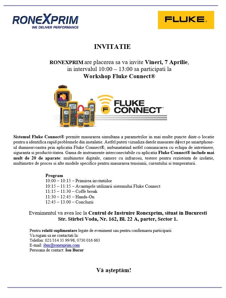 Invitatie Workshop Fluke Connect®,       -   7 Aprilie,   Bucuresti