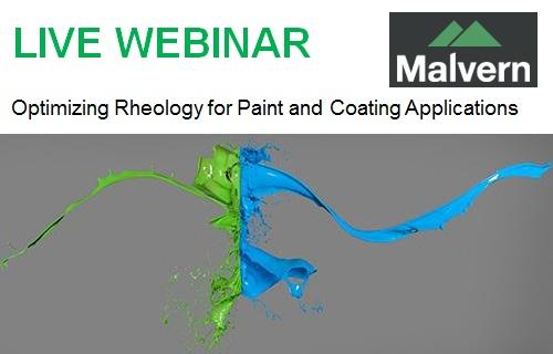 Malvern Webinar - Live: Optimizing Rheology for Paint and Coating Applications - 10th of November 2016