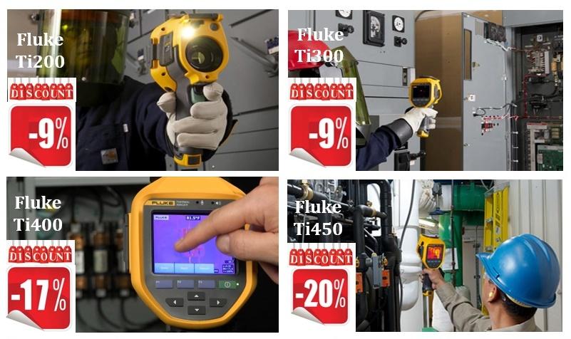 Ofertă specială la camerele de termoviziune FLUKE Ti200, Ti300, Ti400 & Ti450