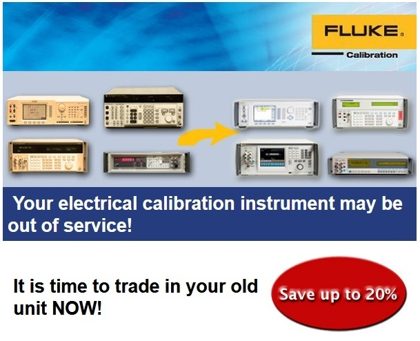 Oferta speciala: Fluke Calibration Trade-In action