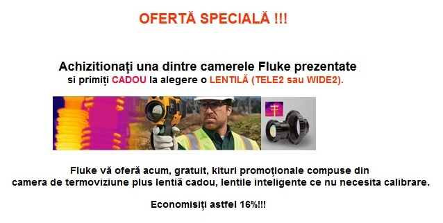 Oferta speciala Fluke: camere de termovziune cu lentile CADOU