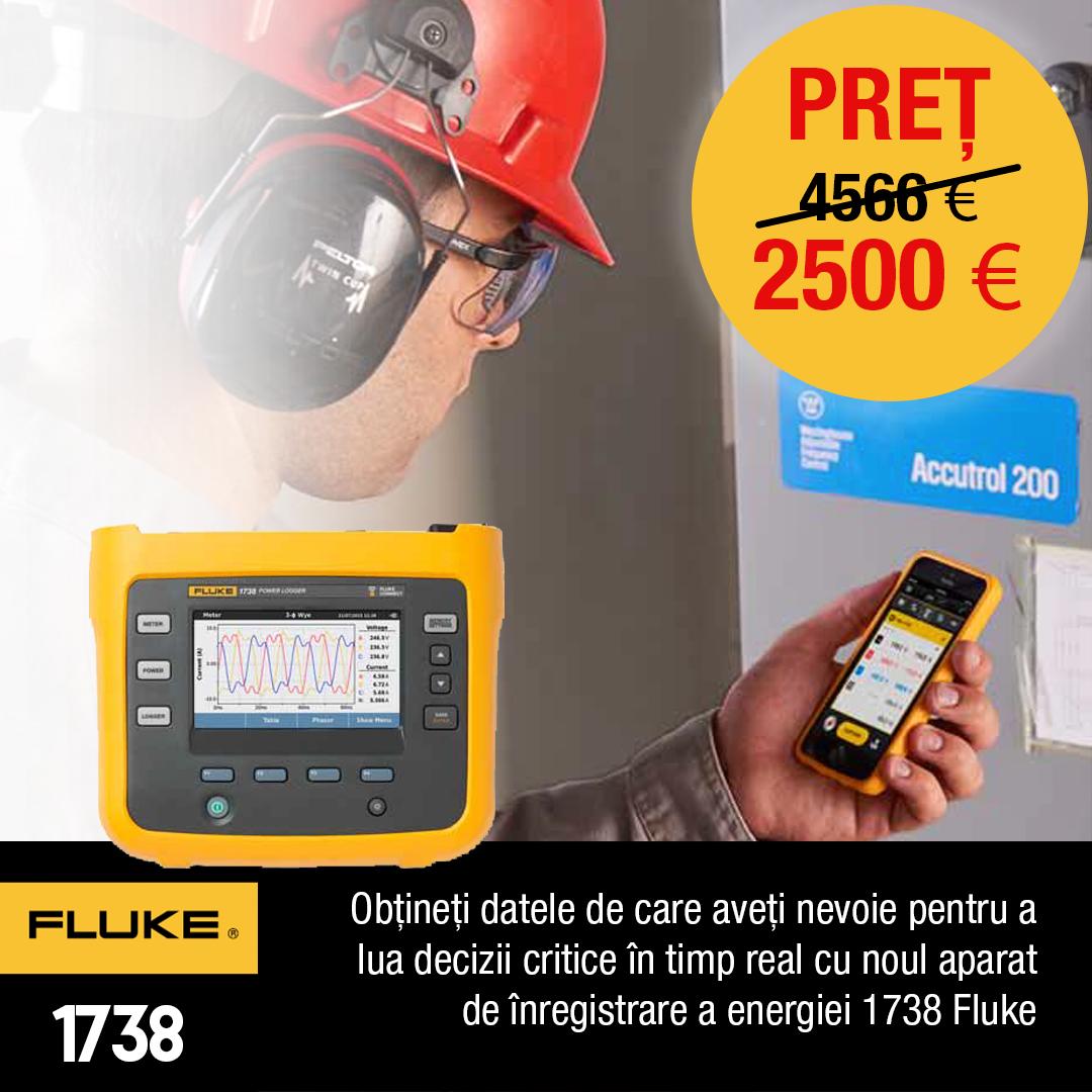 Promoţie - Înregistratorul de energie Fluke 1738, acum la un preț special!