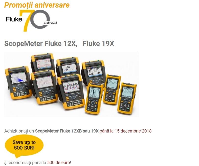 Promoție ScopeMeter Fluke 12X și 19x