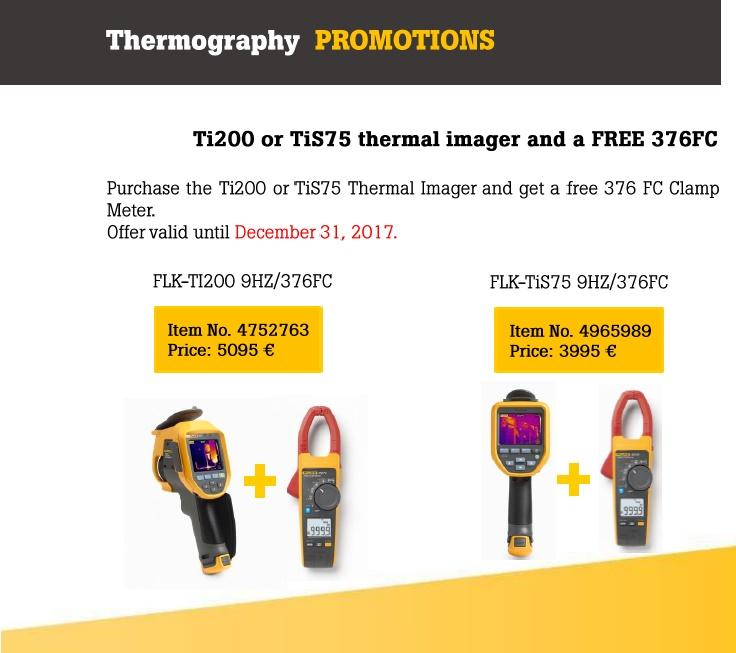 Promotie camere de termoviziune Ti200 sau TiS75