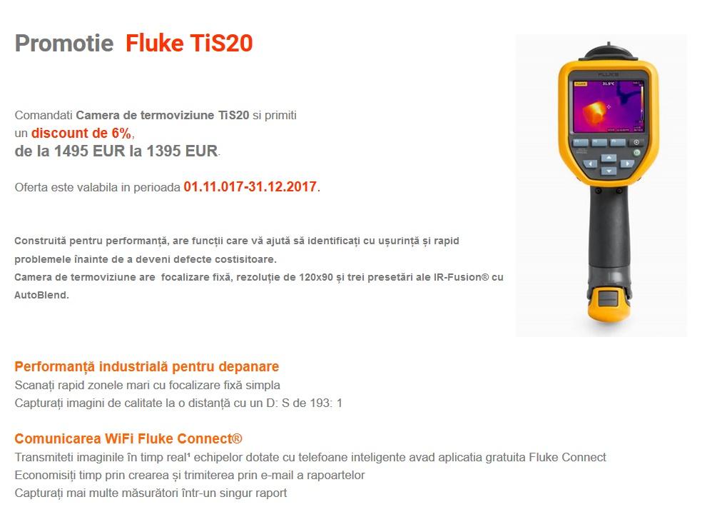 Promotie  Fluke TiS20