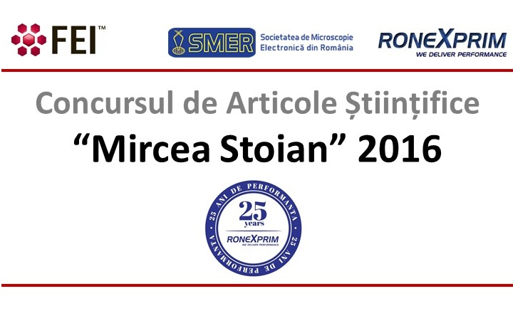 """Rezultate finale evaluare lucrari depuse in cadrul primei editii a concursului de articole stiintifice """"Mircea Stoian"""" – 2016"""