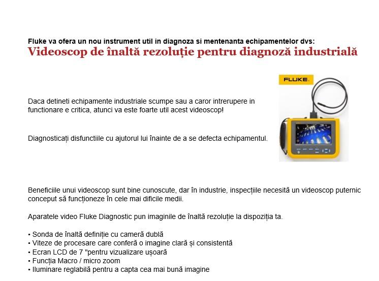Videoscop pentru diagnoză industrială
