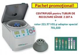 CENTRIFUGA pentru TUBURI DE RECOLTARE SANGE  Z 207 A  + rotor 221.57 V01 şi adaptor special 701,020