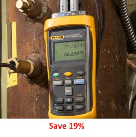Cumpărați un termometru de referință Fluke 1524 la prețul modelului Fluke 1523.
