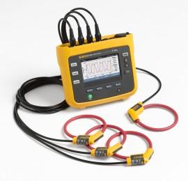 Fluke 1738 FTP KIT: Analizor de calitatea energiei + set de sonde de test cu siguranţe