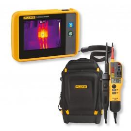 KIT Fluke PTi120 cameră de termoviziune + tester Fluke 150,  CADOU rucsac PACK30 si DISCOUNT