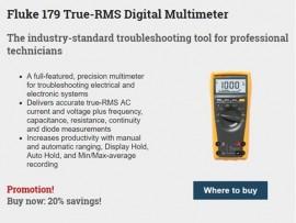 Ofertă specială Fluke - 20% reducere la multimetrul Fluke 179