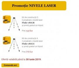 Ofertă specială: Nivele laser Fluke cu tripod gratuit