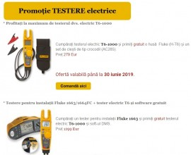 Oferte speciale TESTERE electrice FLUKE