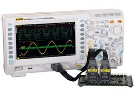 Rigol MSO2202A-S Osciloscop digital 200MHz, 2 canale analogice, 16 canale digitale, 2GSa/s + generator semnal 25MHz